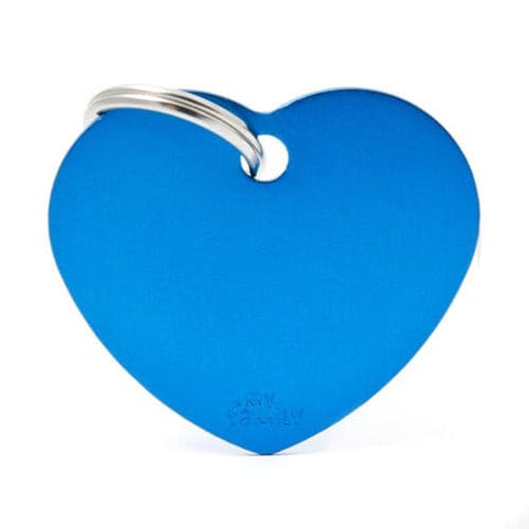 Blue Aluminum Heart shaped Necklace