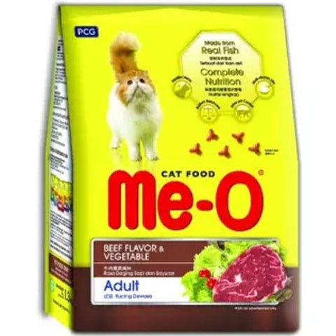 Me-O Adult Cat Food, Beef And Vegetables