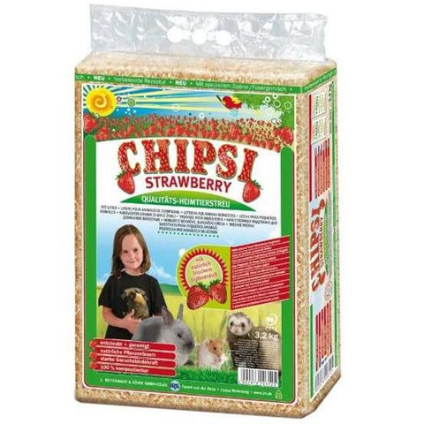 Chipsi Strawberry Bedding For rabbits 3.2Kg