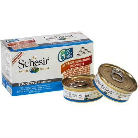 Schesir Natural Meal Tuna in Boiled Water Canned Cat Food  6×50g