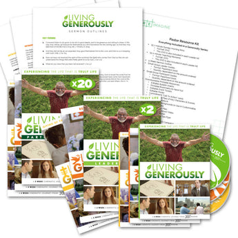 Living, Loving, and Leading Generously Church-Wide Sermon Series Package - Print - Bundled with Discount!