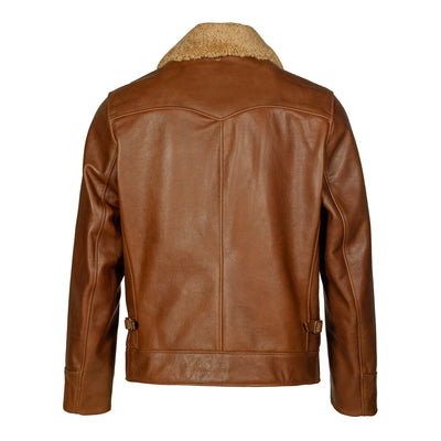 596 Antique Waxy Cowhide Leather Jacket