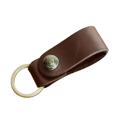 Schott Leather Ring Keychain Strap - M.W. Reynolds