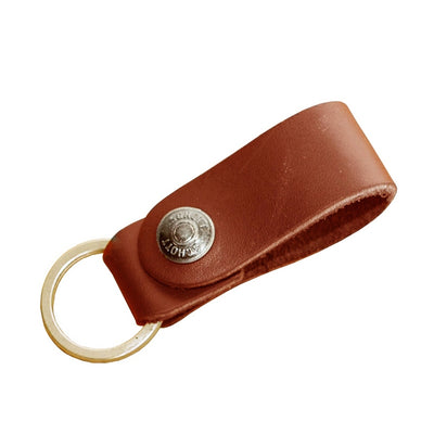 Leather Ring Keychain Strap