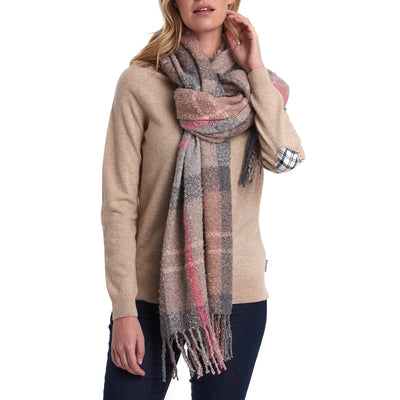 Barbour Women's Tartan Boucle Oversized Scarf - M.W. Reynolds