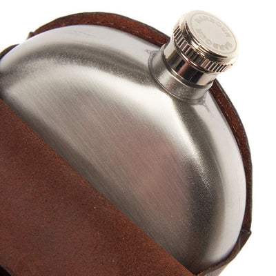 Barbour Round Hip Flask - M.W. Reynolds