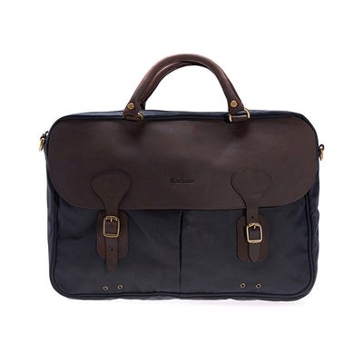 Barbour Wax Leather Briefcase - M.W. Reynolds