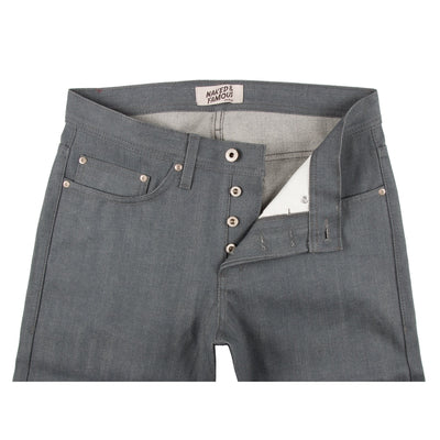 Naked & Famous Denim Grey Selvedge Denim - Weird Guy - M.W. Reynolds