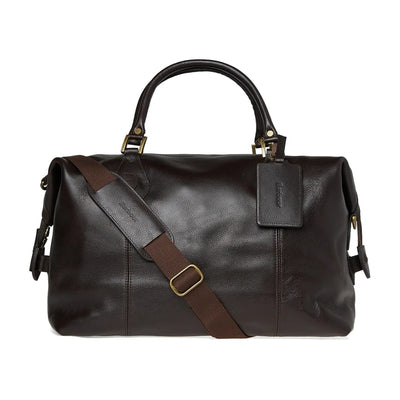Barbour Leather Medium Travel Explorer Bag - M.W. Reynolds