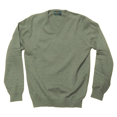 Rothwell Cotton-Cashmere V-Neck Sweater