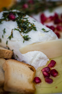 Chèvre with Herb and Garlic Olive Oil