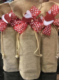 BURLAP & BOW GIFT WRAPPING