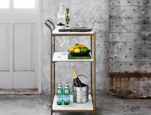 Bar Cart Challenge + Wine Fridge Giveaway