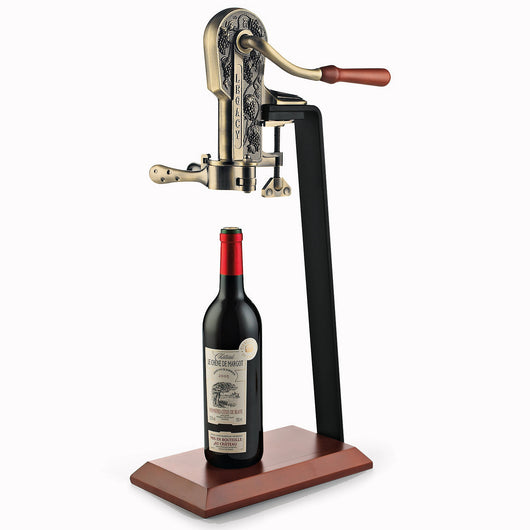 Legacy Wine Opener w/Birch Stand Antique Bronze
