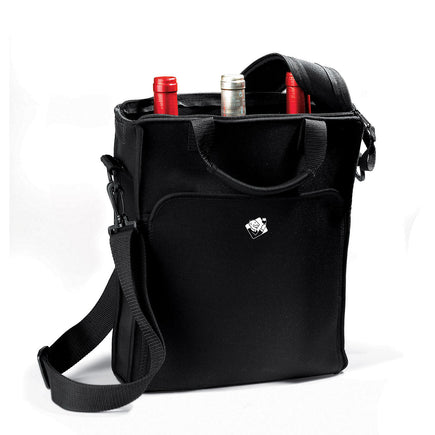 Neoprene 3 Bottle BYO Wine Tote in Black