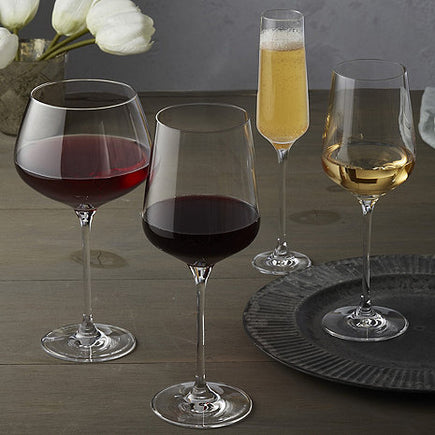 Fusion Infinity Wine Glasses, Complete Set of 16