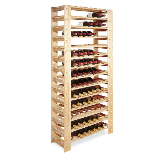 Swedish Wine Rack 126 Bottle 14 Tier Unfinished
