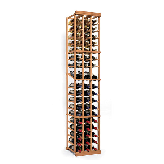 N'FINITY 3 Column Wine Rack Kit with Display Shelf in Natural Wood