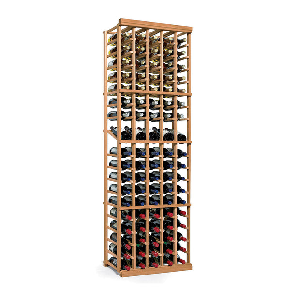 N'FINITY 5 Column Wine Rack Kit with Display Shelf in Natural Wood