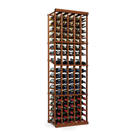 N'FINITY 5 Column Wine Rack Kit with Display Shelf in Dark Walnut