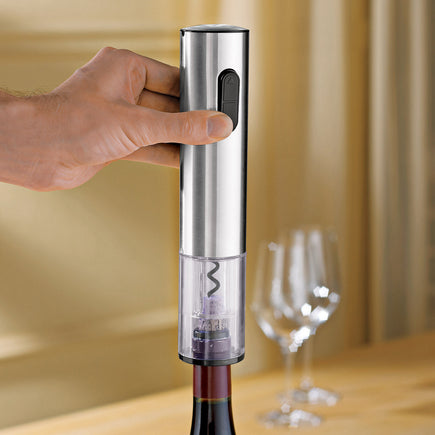 Stainless Steel Electric Push Button Corkscrew
