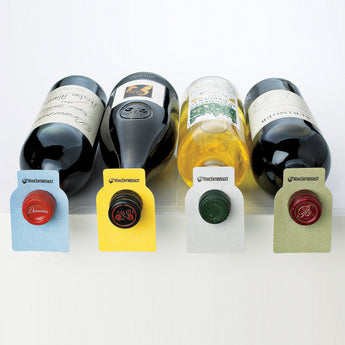 Bottle Tags(100) Color Coded Blue, Green, Yellow, Grey