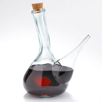 Glass Porron Wine Pitcher