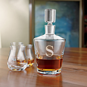 Monogrammed Single Initial Ambassador Whiskey Decanter