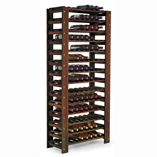Swedish Wine Rack 126 Bottle 14 Tier Walnut