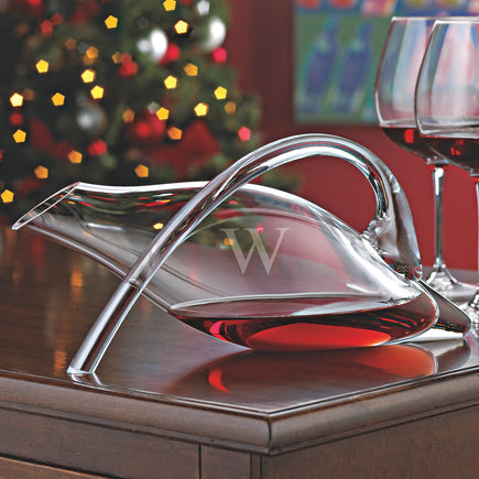Monogrammed Single Initial Fusion Duck Decanter