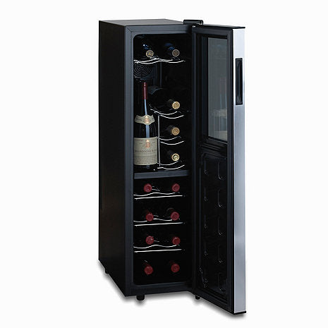 Silent 18 Bottle Dual Zone Slimline Wine Fridge with Upright Bottle