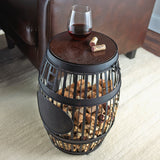 Cork Catcher Barrel Accent Table
