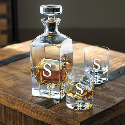 Monogrammed Lexington Whiskey Decanter Set