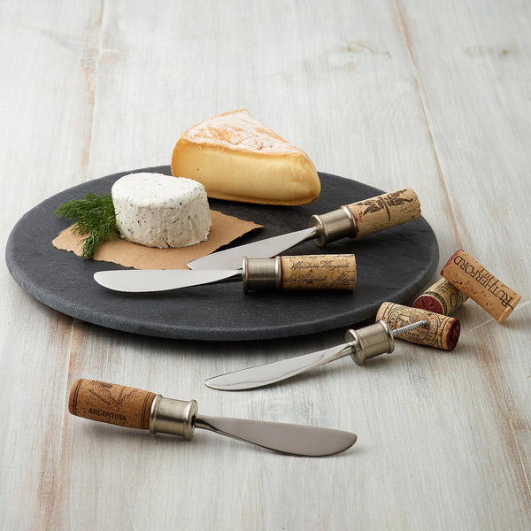 Set of 4 Add Your Own Cork Spreaders