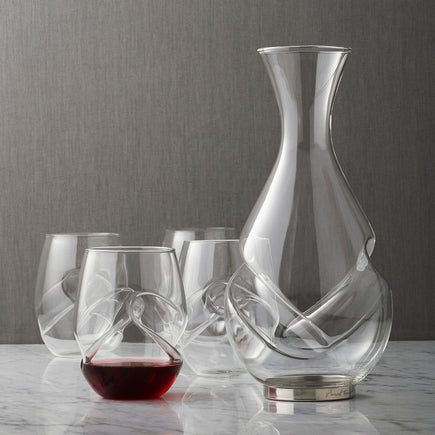 Conundrum Decanter and 4 Glasses Set