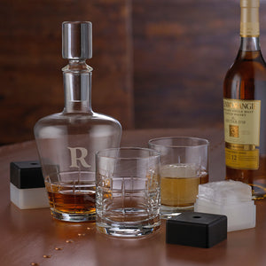 Monogrammed Single Initial 5 Piece Highlands Whiskey Set