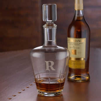 Monogrammed Single Initial Highlands Whiskey Decanter