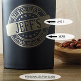 Personalized Brewery Growler in Black