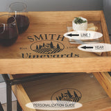 Personalized Nesting Tray Tables Set of 2