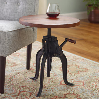 Industrial Crank Drinks Table