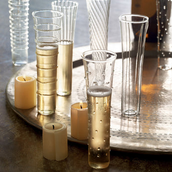 Assorted Stemless Champagne Flutes (Set of 6)