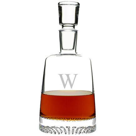 Monogrammed Single Initial Diamond Whiskey Decanter