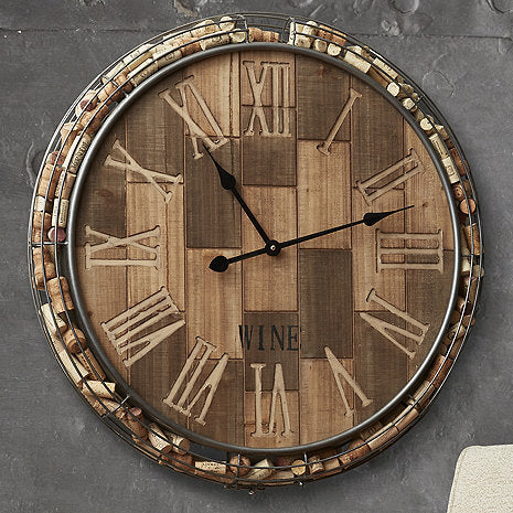 Cork Catcher Collector's Clock