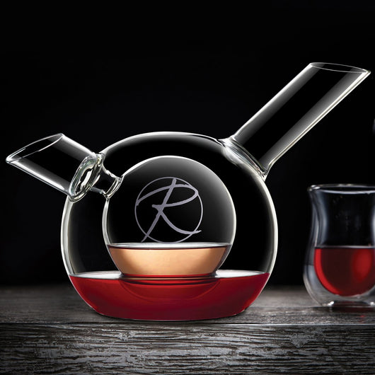 Wine Enthusiast Personalized Art Series Duet Double Decanter