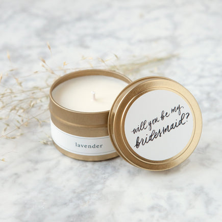 Be My Bridesmaid Travel Candle