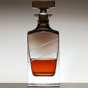 Personalized Jennings Whiskey Decanter with Smoke Ombré Finish - Chadsworth Design