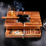 Deluxe Cigar Chest with Ashtray and Coaster Top