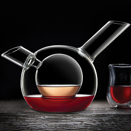 Wine Enthusiast Art Series Duet Double Decanter