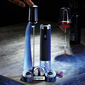Electric Blue Pro All-In-One Automatic Wine Opener, 6-Piece Set