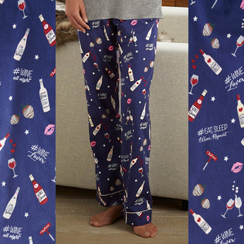 """Eat, Sleep, Wine, Repeat"" Pajama Pants"